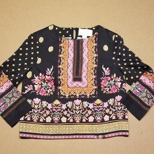 Artelier Nicole Miller black colorful design top